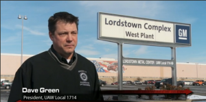 Dave Greene of UAW 1714 was part of the IBEW's video, citing the value its members bring to complex electrical work performed at GM Lordstown.
