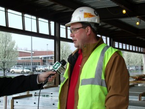 Eric Carlson is managing Dickey Electric's work as exclusive electrical contractor on the St. E's Boardman expansion.