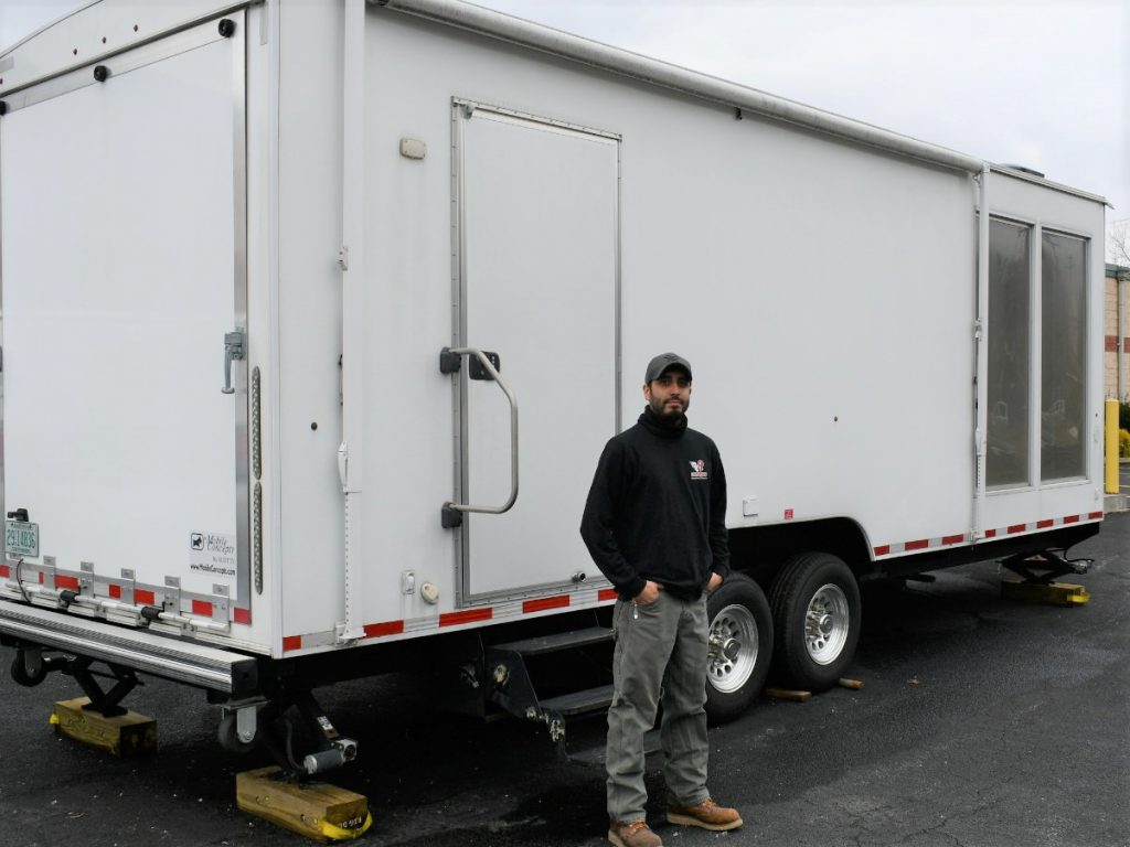 exterior of training trailer