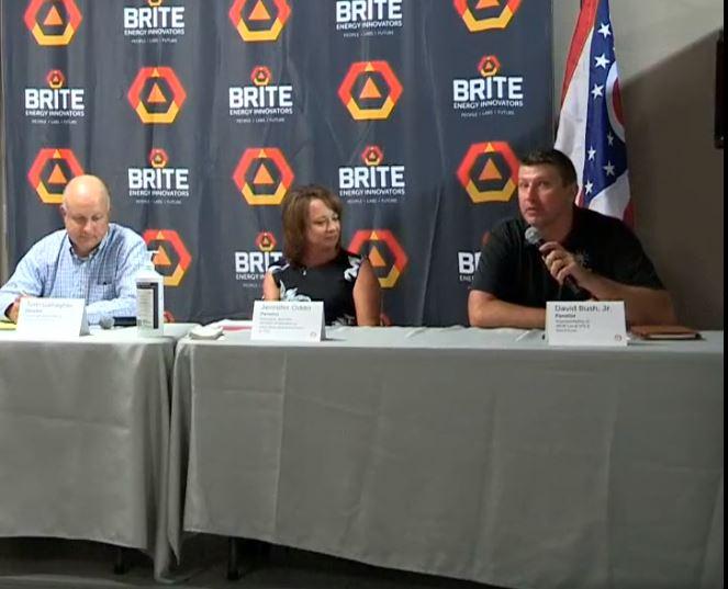 bush speaking on panel