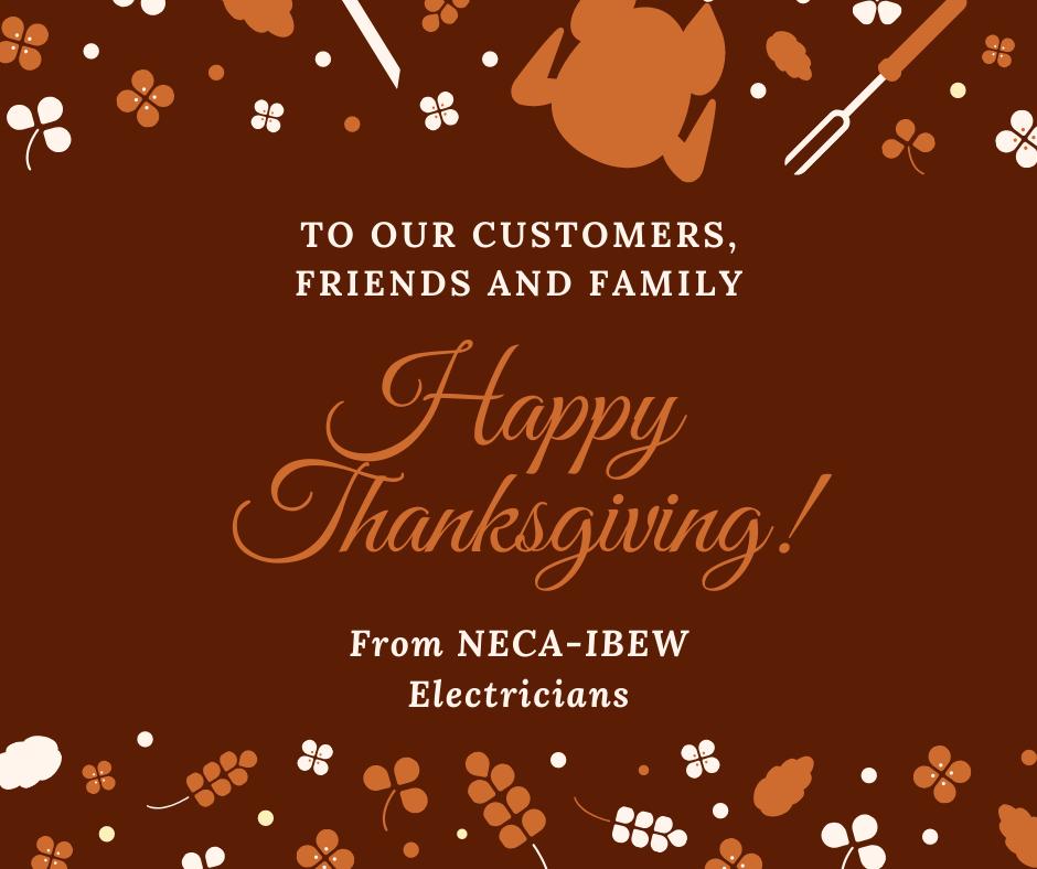 NECA thanksgiving message