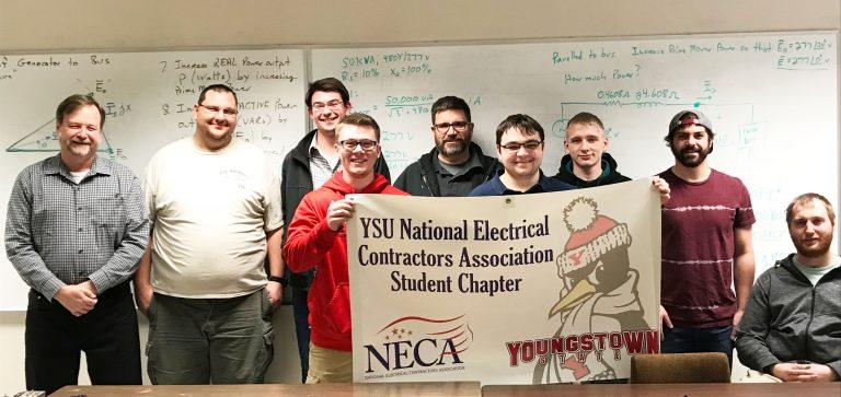 Members of YSU Student NECA Chapter
