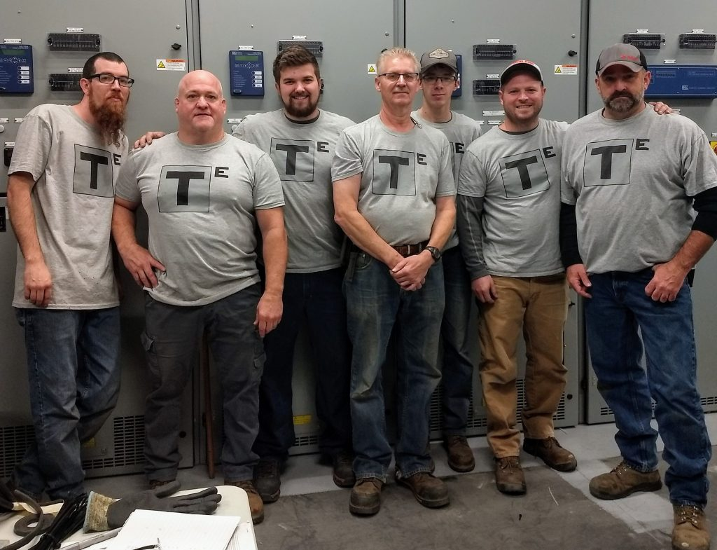 Photo of T-Squared Electrical staff.