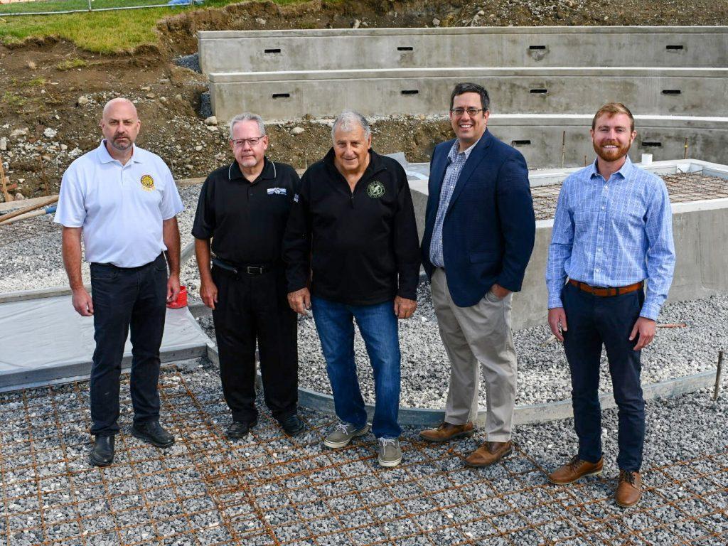 LMCC officials at statue site