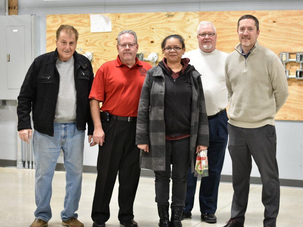 NECA IBEW electricians Christmas donation