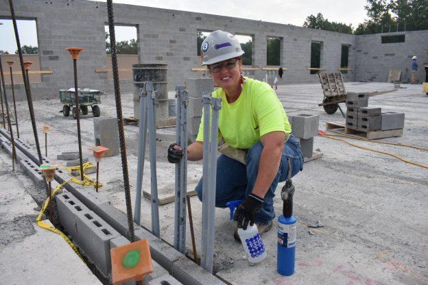 female apprentice on jobsite